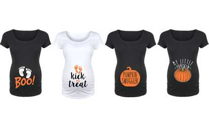 shop groupon womens funny maternity halloween shirt