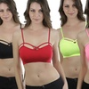 Women's Caged Spaghetti-Strap Cami Bralettes (6-Pack)