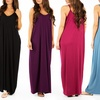Women's V-Neck Cami Maxi Dress. Plus-Sizes Available.