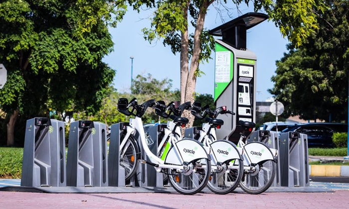 Pick and Drop Bike Rental for 1 Day or 3 Days or 1 Month/Year Membership with Cyacle, 50 locations in Abu Dhabi