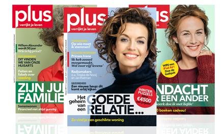 5 of 11 nummers Plus Magazine, je abonnement stopt automatisch