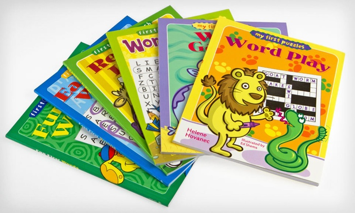 """Six """"My First Puzzles"""" Word-Puzzle Books: $15 for a Set of Six """"My First Puzzles"""" Word-Puzzle Books ($35.70 List Price). Free Shipping and Free Returns."""