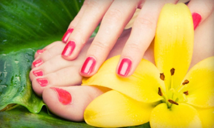 Southwest Nails - Ken Caryl: Shellac Spa Manicure with Polish Removal, or a Spa Mani-Pedi at Southwest Nails (Up to Half Off)