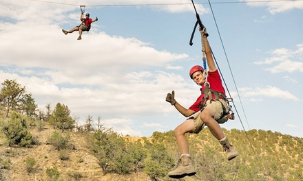 Colo-Rad Weekday Zipline Tour for One or Family Night Package at Adventures Out West (Up to 38% Off)