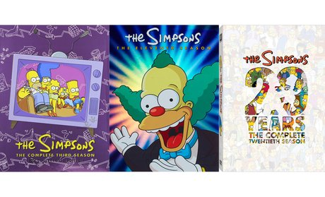 The Simpsons Seasons 3, 11, 13, 14, 16, and 20 on DVD