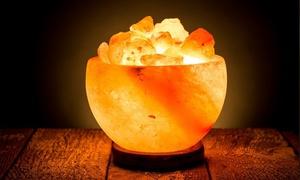 Himalayan Rock Salt Bowl Lamp  at Himalayan Rock Salt Bowl Lamp , plus 6.0% Cash Back from Ebates.