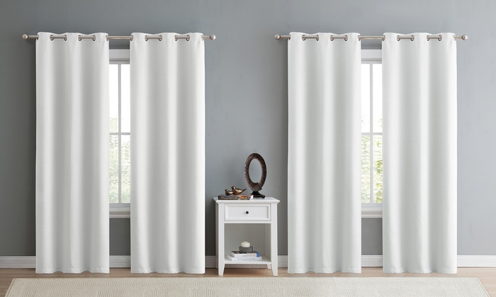 Up To 61 Off On Blackout Window Curtains 4 Pack Groupon Goods