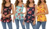 Lilly Posh Women's Back Criss-Cross Floral Tank