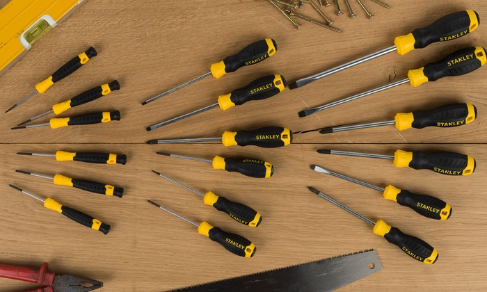 One or Two Stanley Essentials Screwdriver Sets