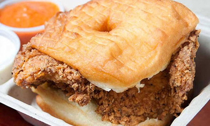 Farmhouse Chicken & Donuts - Middleburg: $15 for Chicken, Sides, Donuts, and Drinks for Two at Farmhouse Chicken & Donuts ($27.74Value)
