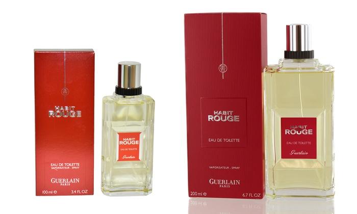 40c704d3f3e92 Guerlain Habit Rouge Eau de Toilette for Men (3.4 or 6.7 Fl. Oz.) | Groupon