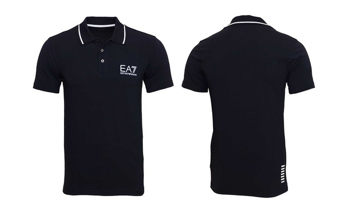 1ff04981 Emporio Armani Men's EA7 Polo Shirt for £39.98 With Free Delivery (43% Off)