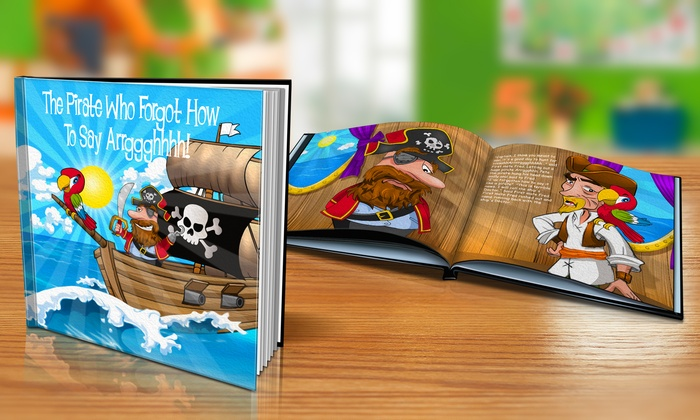 "Dinkleboo: $9 or $14 for ""The Pirate Who Forgot How to Say 'Arrggghhhh!'"" Personalized Kids Book from Dinkleboo (Up to 65% Off)"