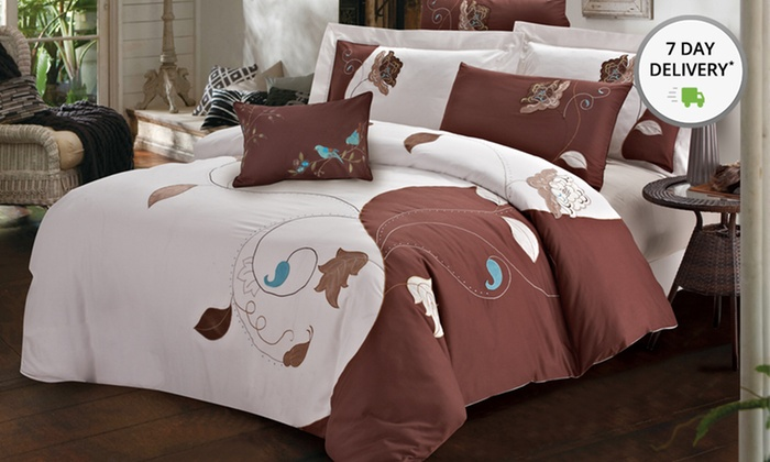 7-Piece Duvet Cover Sets: 7-Piece Duvet Cover Sets. Multiple Styles and Sizes Available from $99.99–$129.99.