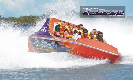 50-Minute Jet Boat Ride for Child ($28), Adult ($38) or Family ($128) at JetScream(Up to $265 Value)