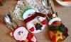 12 porte-couverts Bonhommes Noël