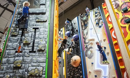 image for Climbing Wall Access for a Child, One or Two Adults, or a Family of Up to Four at Grip and Go (Up to 44% Off)