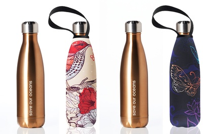 Two Bbbyo Future Stainless Steel Bottles with Covers: 500ml $49 or 750ml $54 Don't Pay up to $128