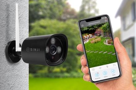 Sinji bewakingscameras met wifi verbinding en SD kaart van 64 GB naar keuze