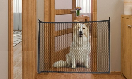 Portable Mesh Pet Gate with Fixings