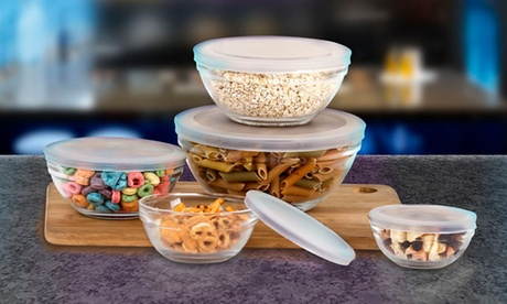 Wexley Home Snack Size Glass Bowl Set with Airtight Lids (10-Piece) da22def0-bff3-11e7-9981-00259069d7cc