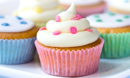 One or Two Dozen Basic Cupcakes at Birdies Cakes & Bakery (Up to 52% Off)