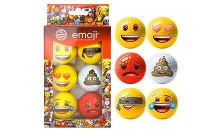 Emoji Golf Bundle Including Golf Balls, Head Cover and Tool Set