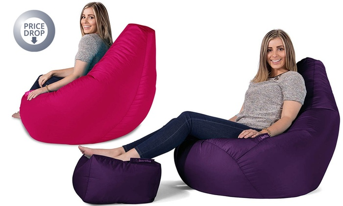 big bertha highback beanbag groupon goods. Black Bedroom Furniture Sets. Home Design Ideas