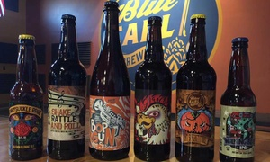 Beer Flight and Empty Growler for One, Two, or Four at Blue Earl Brewing Co. (Up to 59% Off)