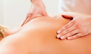 Back To Life Physiotherapy: Chiropractic-Exam Package with One or Three Massages at Back To Life Physiotherapy (85% Off)