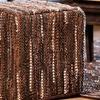Leather Braided Ottoman