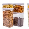 Airtight Plastic Canisters Set (4-Piece)