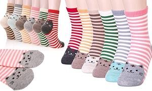 Lot 6 ou 12 chaussettes chat