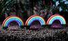 3, 6 or 12 Solar Rainbow Stake Lights