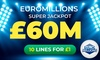 10 EuroMillion Entries for £1