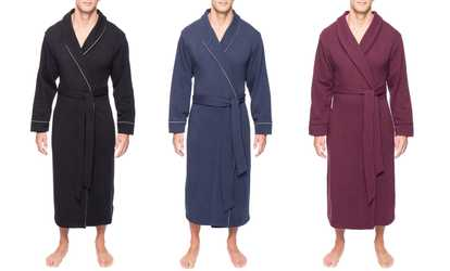 Shop Groupon Noble Mount Men s Fleece-Lined French Terry Robe f22e57b0f