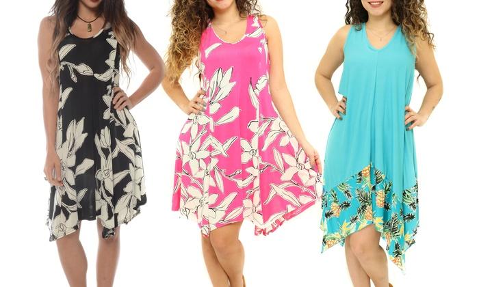 Women\'s Handkerchief Hem Spring Beach Dress. Plus Sizes ...
