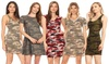 MOA Collection Women's Camo Dress with Plus