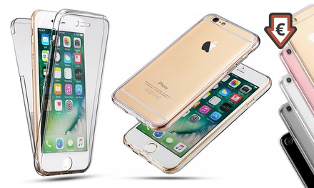 1 o 2 fundas dobles de silicona transparente para iPhone 6, 6 Plus, 7 y 7 Plus