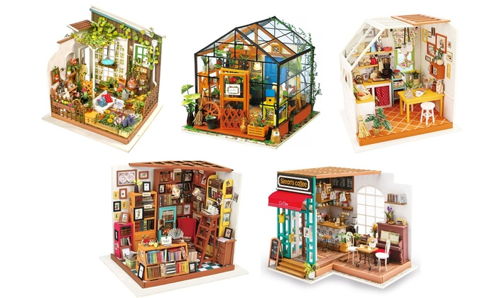 Diy Miniature 3d Model Dollhouse Kit With Furniture Accessories