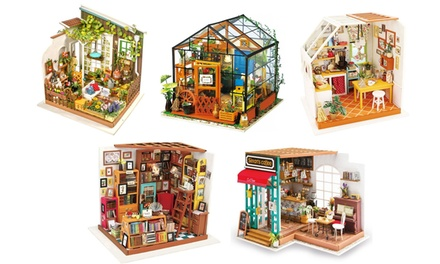 DIY Miniature 3D Wooden Model Dollhouse Kit with Furniture & Accessories