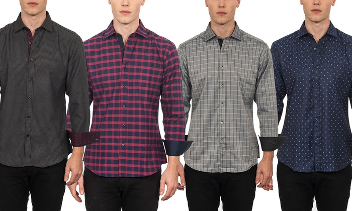 Warriors & Scholars Men's Printed and Plaid Shirts