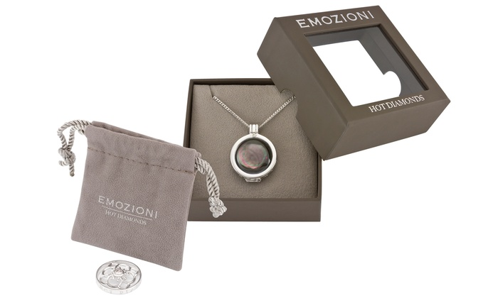 Groupon Goods Global GmbH: Hot Diamonds Emozioni Day and Night Multi-Coin Pendant Necklace