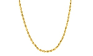 10K Gold 2MM Diamond-Cut Rope Chain Necklace by Moricci