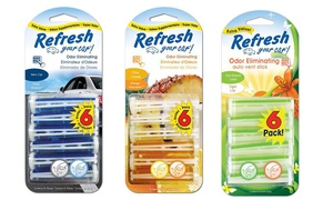 Refresh Your Car! Dual Vent Air Freshener Sticks (24 Count)