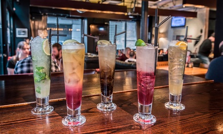 Four Cocktails and Pizza to Share Between Pairs for Two or Four at Bread and Butter