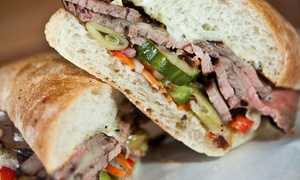 The Sandwich Shop: Subs, Salads, and More for One or Two at The Sandwich Shop (40% Off)