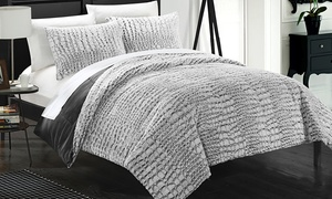 Dundee Faux-Fur with Mink-Like Backing Comforter Set (3-Piece)