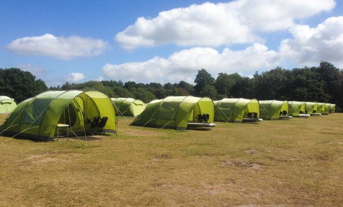Hampshire: 2-Night Self-Catering Camping for Up to 2, 4 or 6 with Tents and Equipment Provided at EazyCamp - New Forest