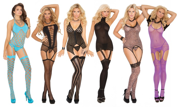 Elegant Moments Lace and Bow Trimmed Thigh High Stockings